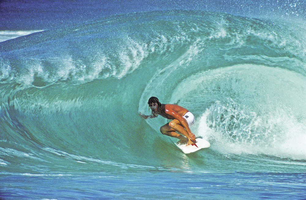 "WAYNE "" RABBITT "" BARTHOLEMEW, OFF THE WALL, OAHU, HI. 1974."